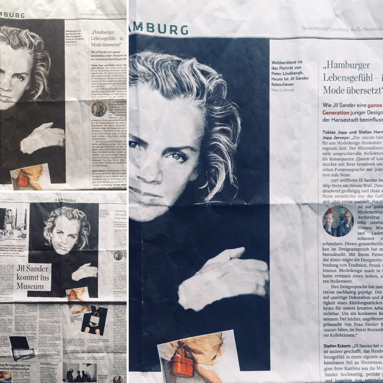 03f0a04b350b6f Hamburger Abendblatt – Sander und Hamburger Modedesigner