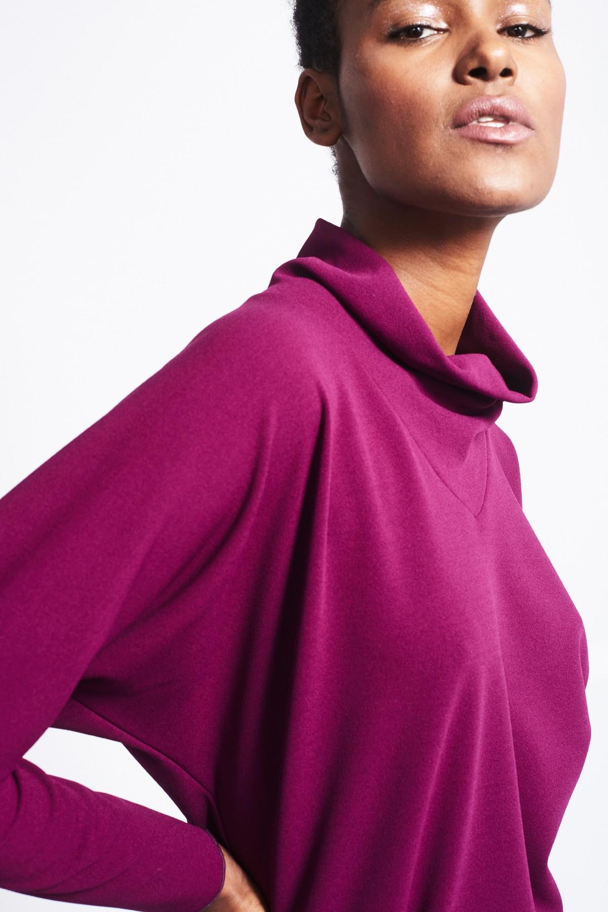 Kleid Phyllis violett crepe (2)