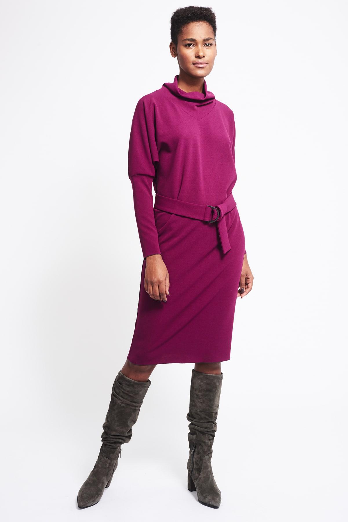 Kleid Phyllis violett crepe (4)