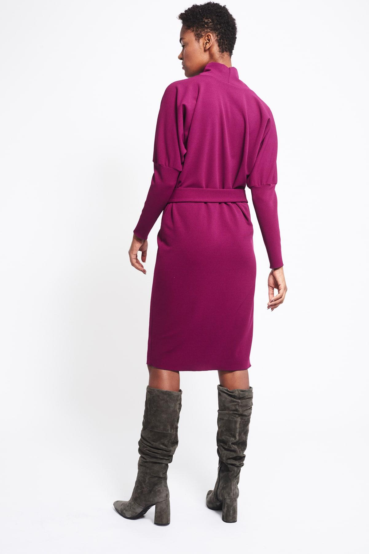 Kleid Phyllis violett crepe (5)