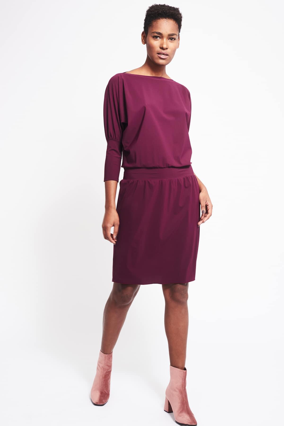 Kleid Philene weinrot (1)