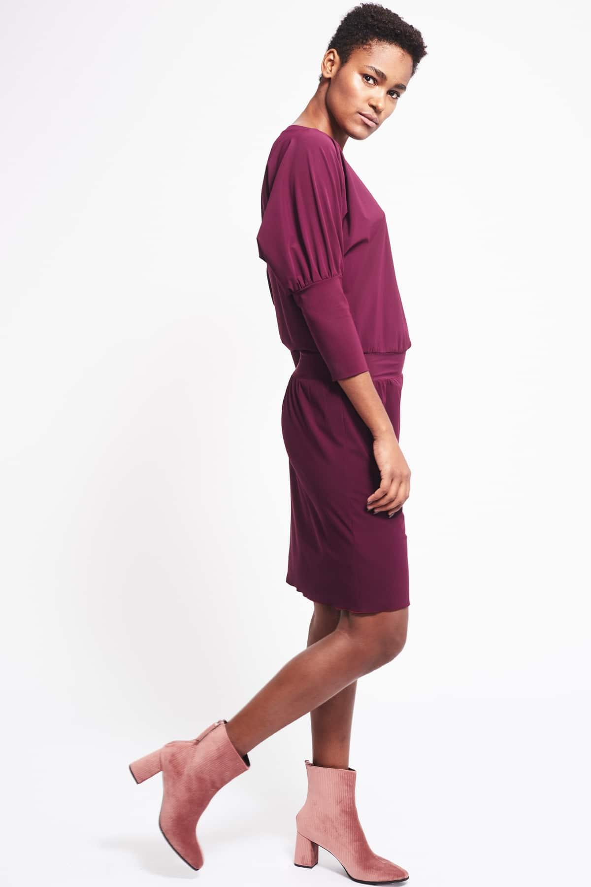 Kleid Philene weinrot (2)
