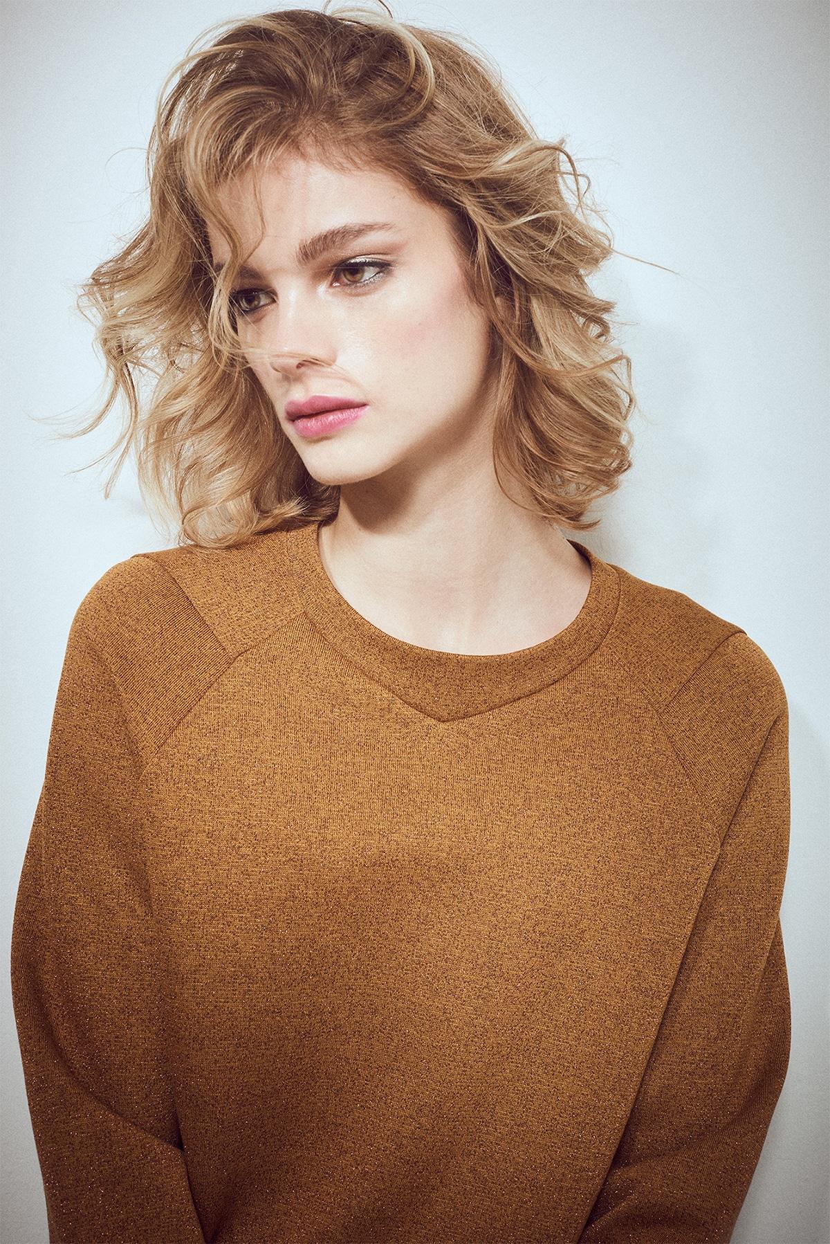 sweatshirt senf glam