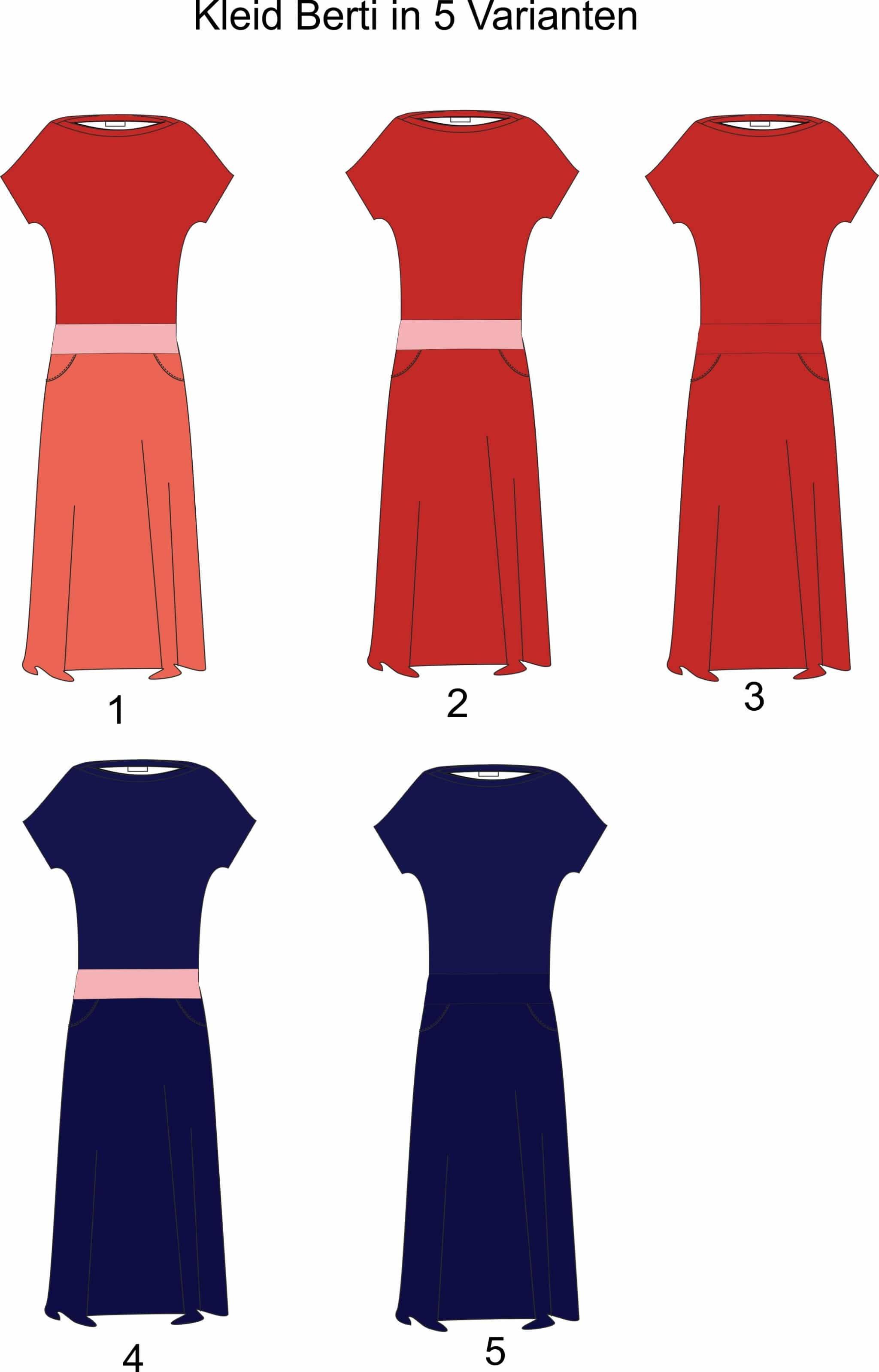 kleid berit in 5 varianten onlineshop