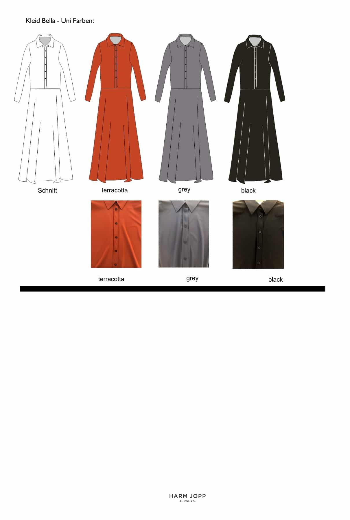 zeichung kleid maria uni online shop 1