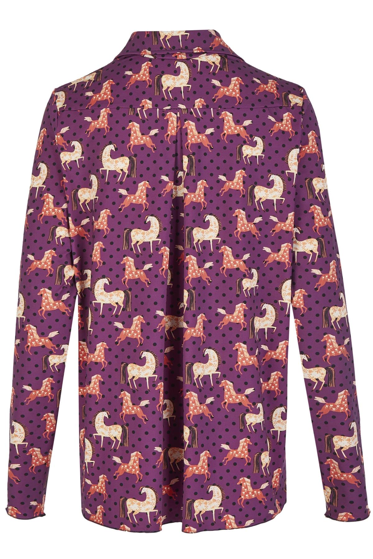 Bluse_Nowa_horses_lila_2