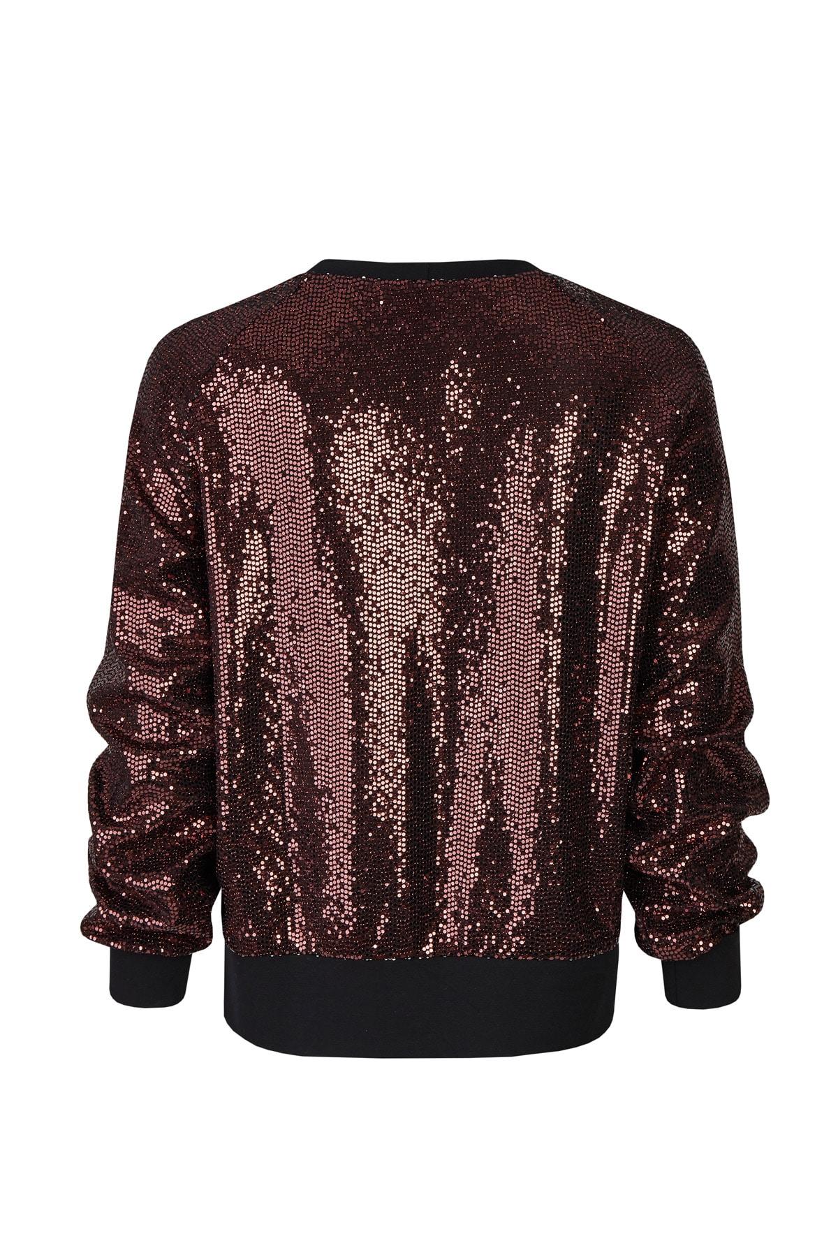 Sweater Paillette Kupfer RT