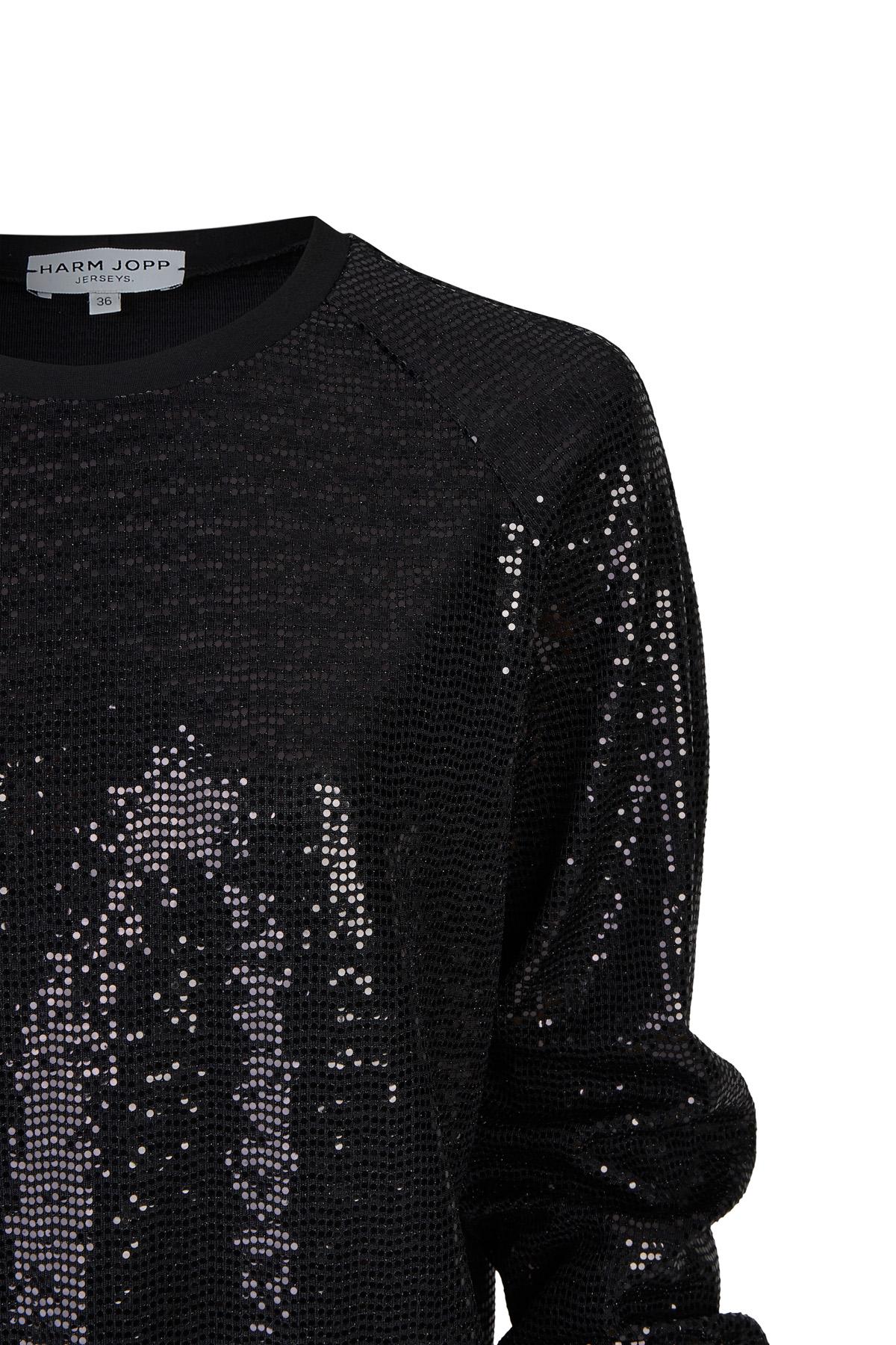 Sweater Paillette schwarz 3