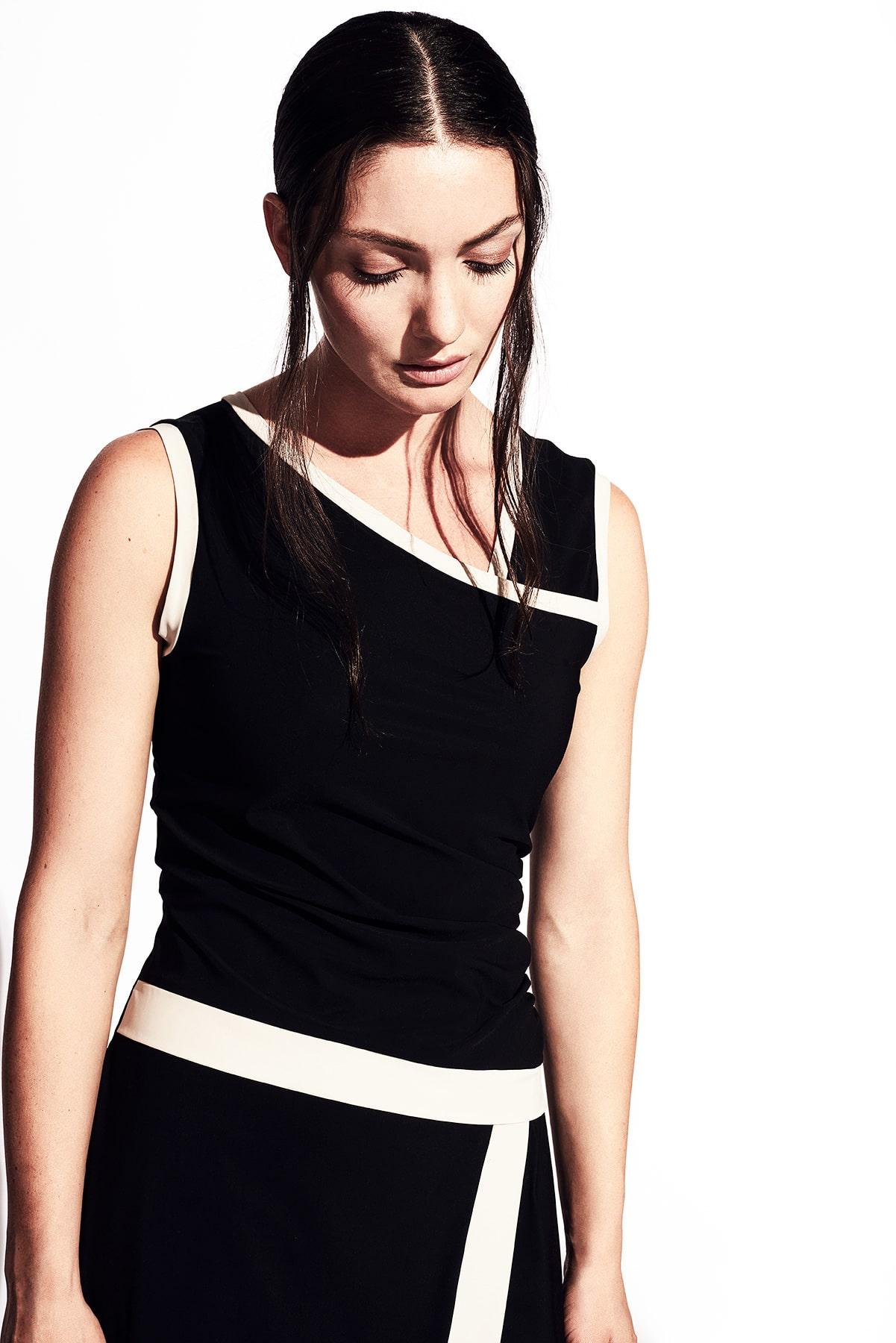 Kleid Audrey Jerseykleid Hamburg Chanellooking Ausschnitt