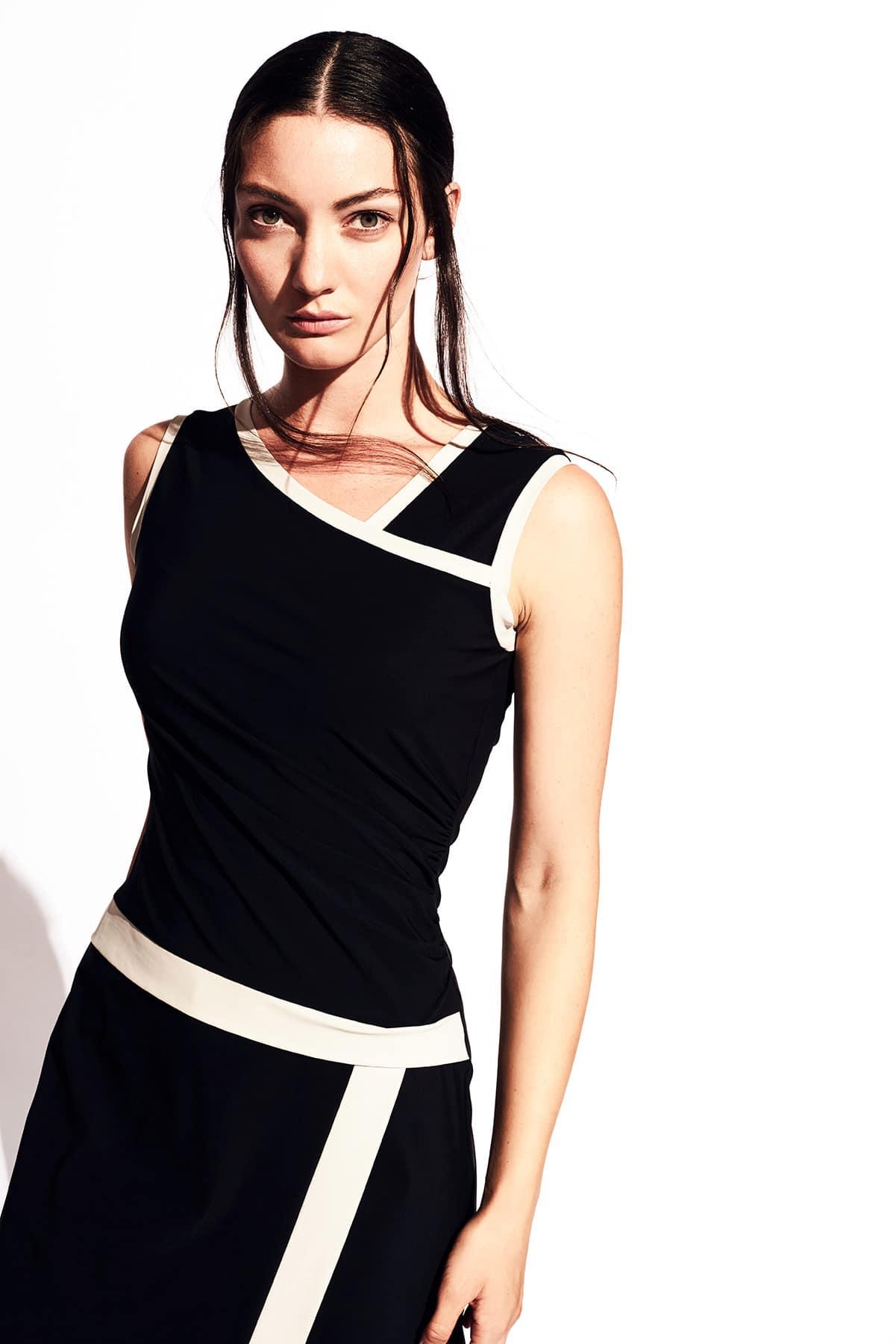 Kleid Audrey Jerseykleid Hamburg schwarz chanelkleid