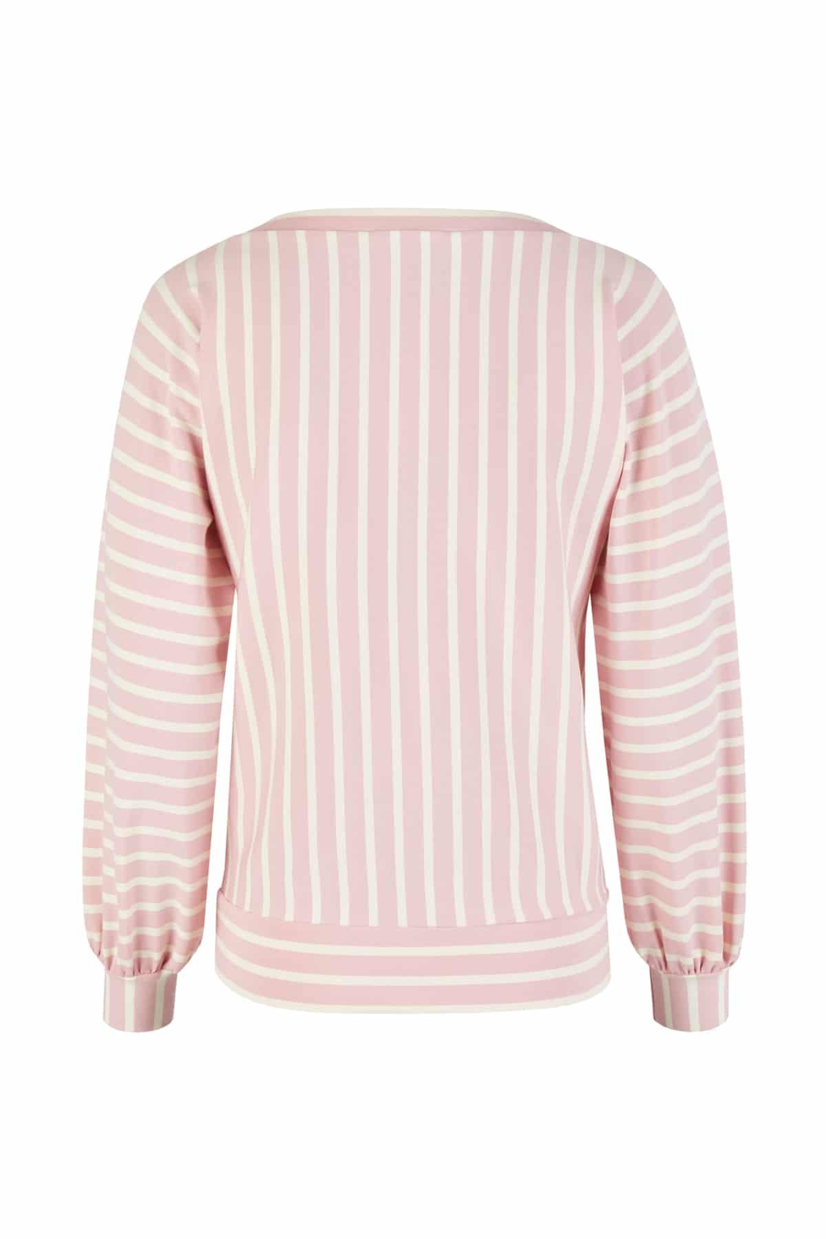 sweatshirt streifen rosa back